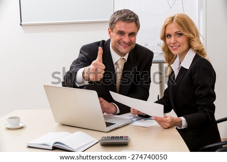 Business partners have agreed to cooperate. Partnerships. - stock photo