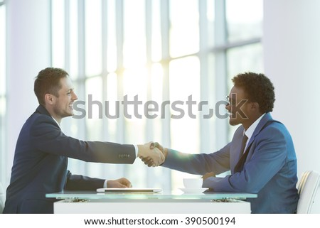 Business partners in office