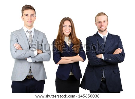 Business partners isolated on white