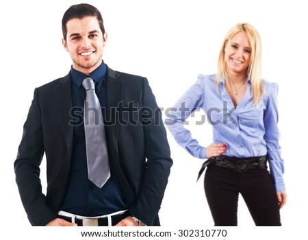 Business partners portrait - stock photo