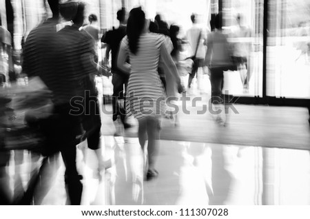 business people activity chiaroscuro abstract black and white - stock photo