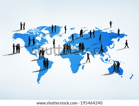 Business People all over the World - stock photo