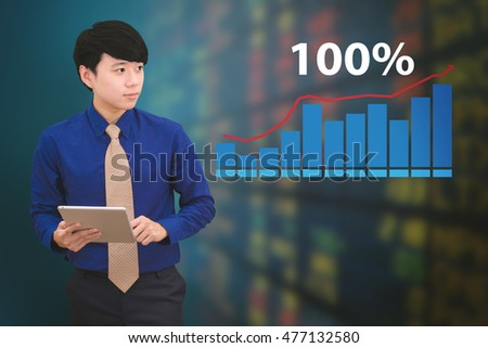 Business people analyzing financial charts