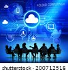 Business People and Cloud Computing Concepts - stock photo