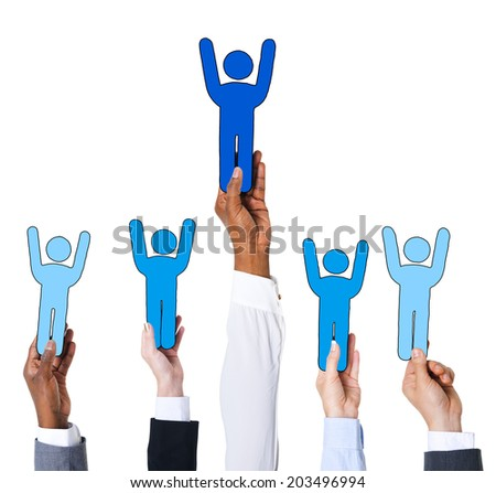 Business People and Individuality Concept - stock photo