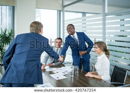 Business people at meeting indoors