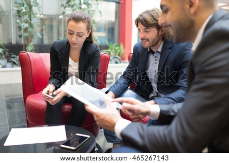 Business people at modern working office