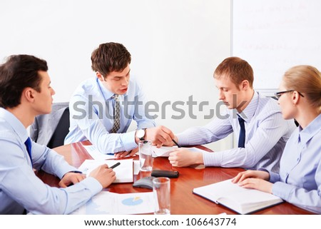 Business people at the office - stock photo