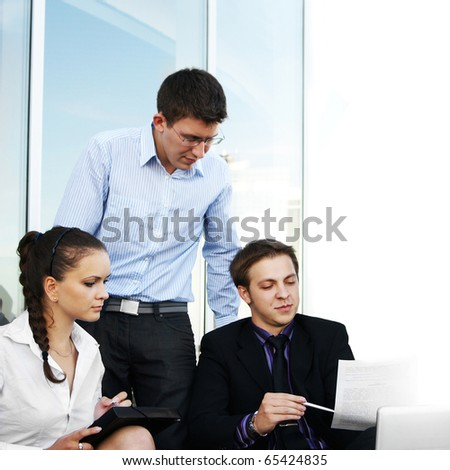 business people at work - stock photo