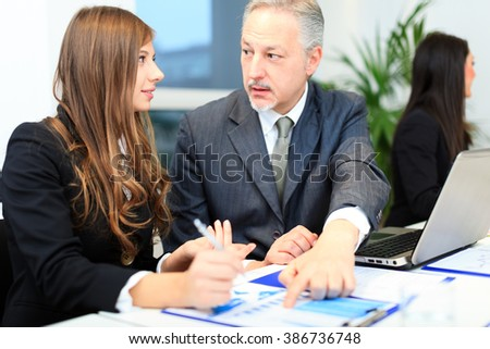Business people at work during a meeting - stock photo