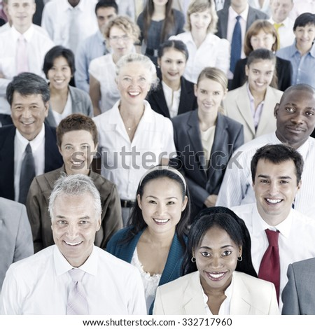 Business People Audience Team Gathering Group Concept - stock photo