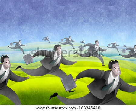Business people background - stock photo