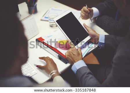 Business People Brainstorming Teamwork Workplace Concept - stock photo
