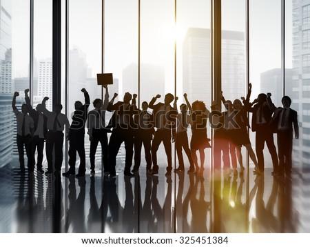 Business People Celebration Success Corporate Concept - stock photo