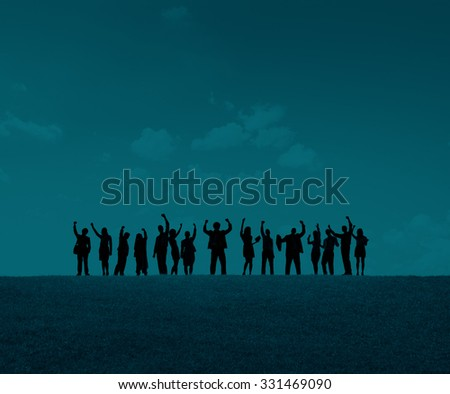 Business People Celebration Success Happiness Concept