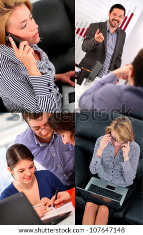 Business people collage - stock photo