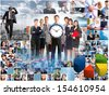 Business people collage. Teamwork concept background. Success. - stock photo