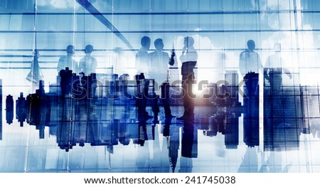 Business People Communication Corporate Office Discussion Planning Concept - stock photo