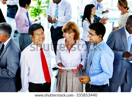 Business People Communication Interaction Colleagues Corporate Concept - stock photo