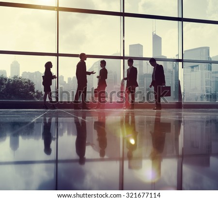 Business People Communication Office City Concept - stock photo