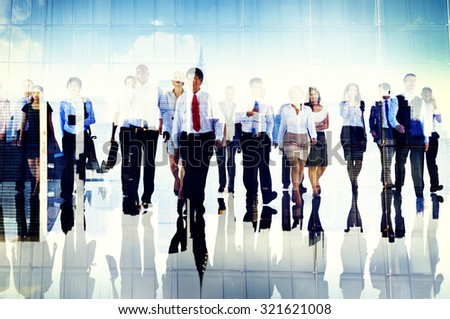 Business People Commuter Group Team Corporate Concept