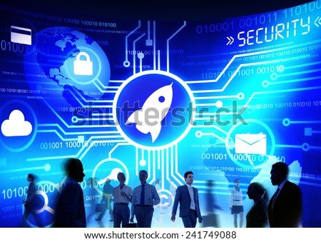 Business People Commuter Technology Security Launch Growth Concept - stock photo