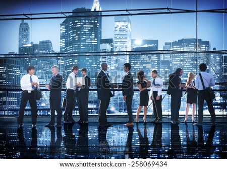 Business People Conference Interaction Handshake Agreement Greeting Concept - stock photo