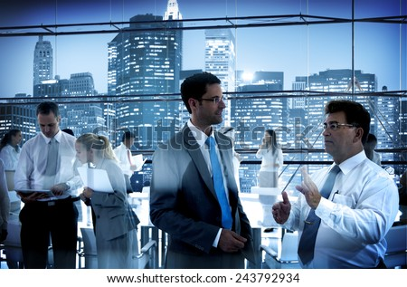 Business People Conference Meeting Boardroom Working Conversation Concept - stock photo