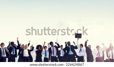 Business People Corporate Celebration Success Concept