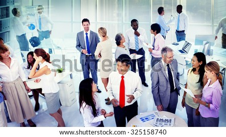 Business People Corporate Communication Office Team Concept - stock photo