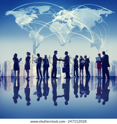 Business People Corporate Handshake City Concept - stock photo