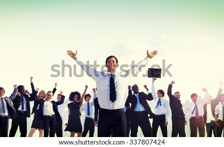 Business People Corporate Success Concept - stock photo