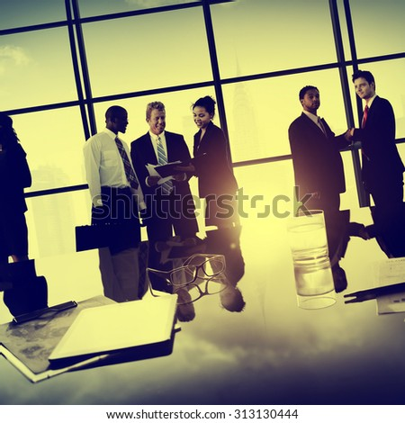 Business People Corporate Team Discussion Meeting Concept - stock photo