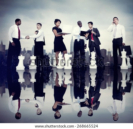 Business People Corporate Team Strategy City Concept - stock photo