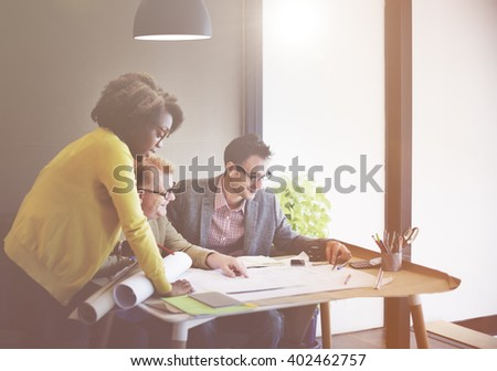 Business People Corporate Teamwork Working Concept
