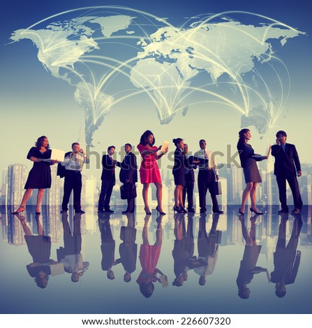 Business People Corporate Working Team Cityscape Concept - stock photo