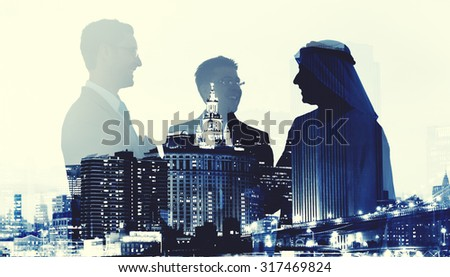 Business People Deal Agreement Partners Collaboration Concept - stock photo