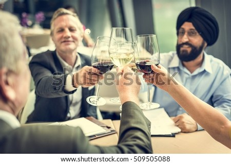 Business People Dining Together Concept