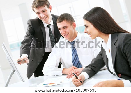 Business people discussing during a working meeting
