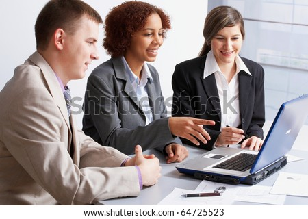 Business people discussing in a meeting - stock photo