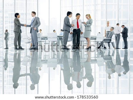 Business People Discussing in Office - stock photo