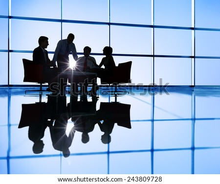 Business People DIscussion Brainstorming Teamwork Concept - stock photo