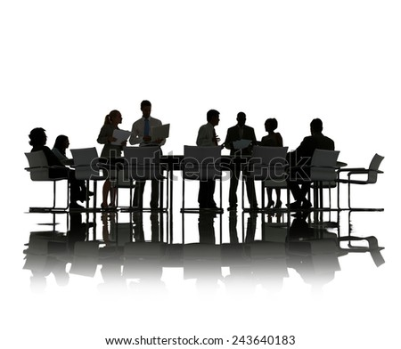 Business People Discussion Communication Isolated Meeting Concept