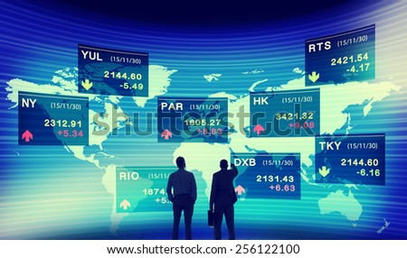 Business People Discussion Stock Market Concept - stock photo