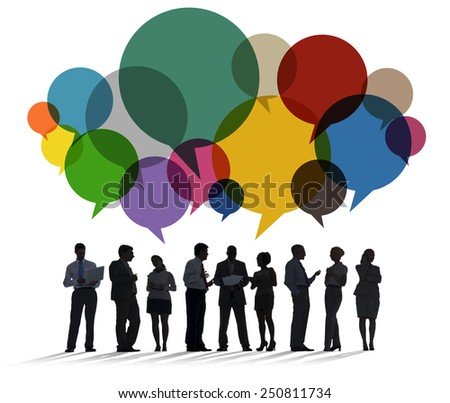 Business People Diversity Talking Communication Concept - stock photo