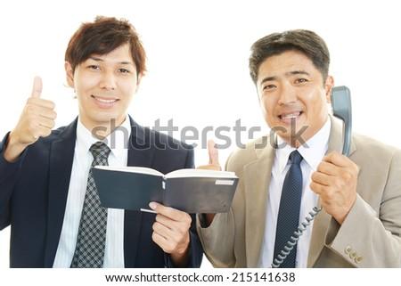 Business people enjoying success - stock photo