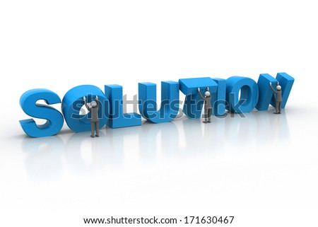 Business people finding solution business Concept