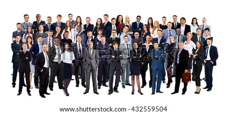 Business people group. Isolated over white background - stock photo