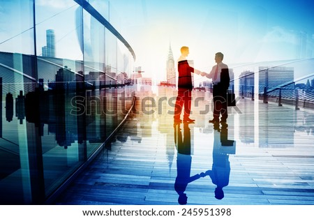 Business People Hand Shake Partnership Teamwork Deal Cooperation - stock photo