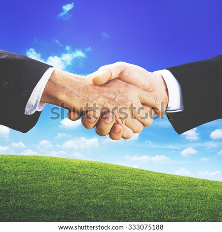 Business People Hand Shake Partnership Togetherness Deal Concept - stock photo